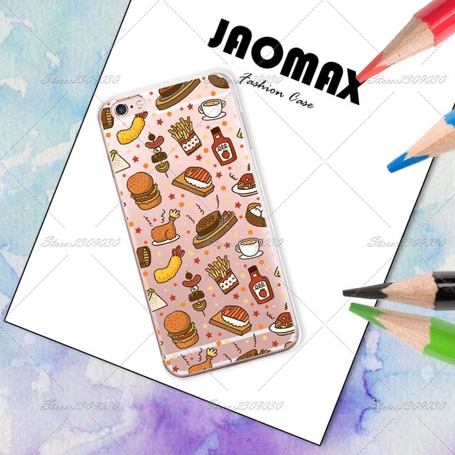 Cartoon Food Silicone Retro Case
