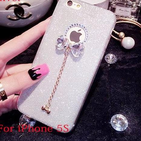 Cases Unique Design Bling Glitter Powder Shine Bowknot