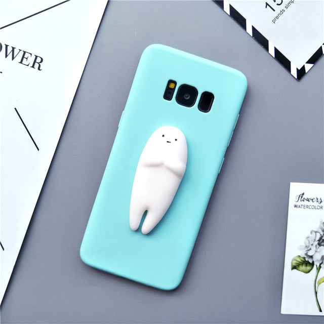 Squishy 3D Silicon Cartoon Cat Rabbit Seal Bear Case