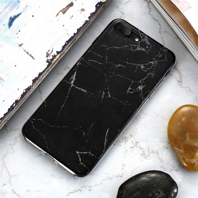 Marble Phone Case by Silicone Back Cover