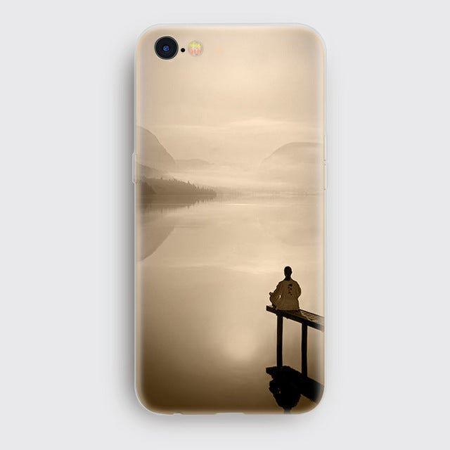 Landscape Scenery   Mountains Bamboo Sea Deer Cat Nature View Hard Back Case Cover