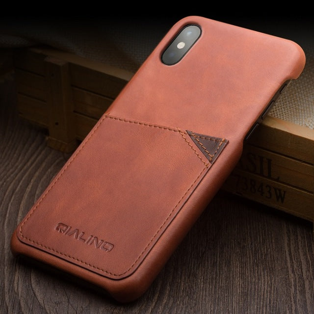 Luxury Genuine Leather Case with Card Slot