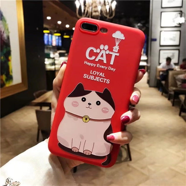 Case Silicone Cute Cartoon Coque Soft TPU