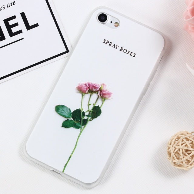 Cute Relief Peony Lotus Floral Protection Case