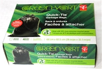 'Green' Quick-tie Garbage bags