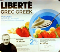 Liberte Greek Yogourt - Strawberry Banana 2%