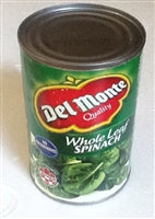 Del Monte Whole Leaf Spinach