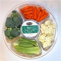 Small Vegetable Tray with Dip