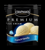 Chapman's Premium Ice Cream French Vanilla 2L Tub
