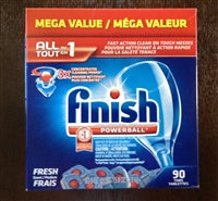 90 Finish Dishwashing Detergent ~ Powerball Mega Pack