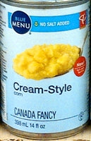 Store Brand no salt Cream-Style Corn