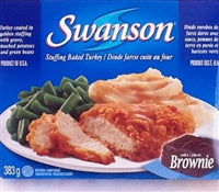 Swanson Turkey Dinner with Brownie