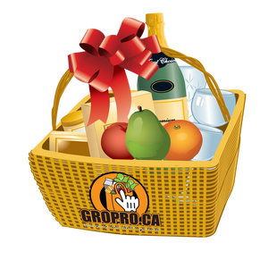 Fresh Gift Basket with Wine