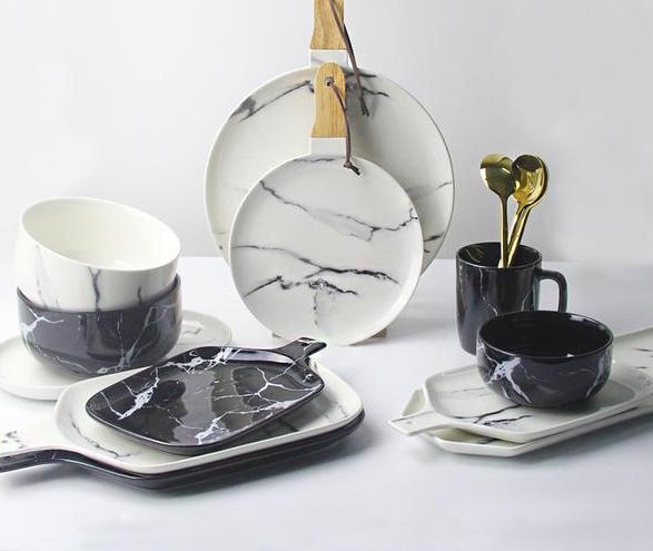 Marble Tableware Set