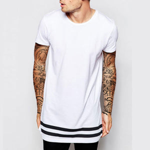Long Line T-Shirt With Stripes