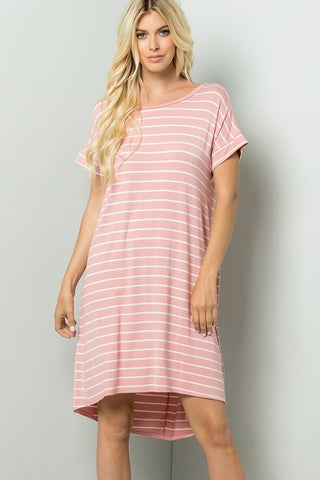 Rose and Ivory Tunic Dress