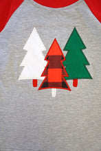 Load image into Gallery viewer, Kids Christmas Tree Raglan