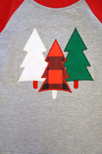 Kids Christmas Tree Raglan