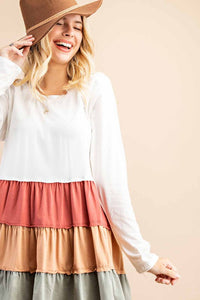 Tiered Color Block Tunic