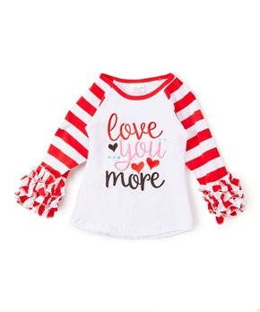 """love you more"" raglan"