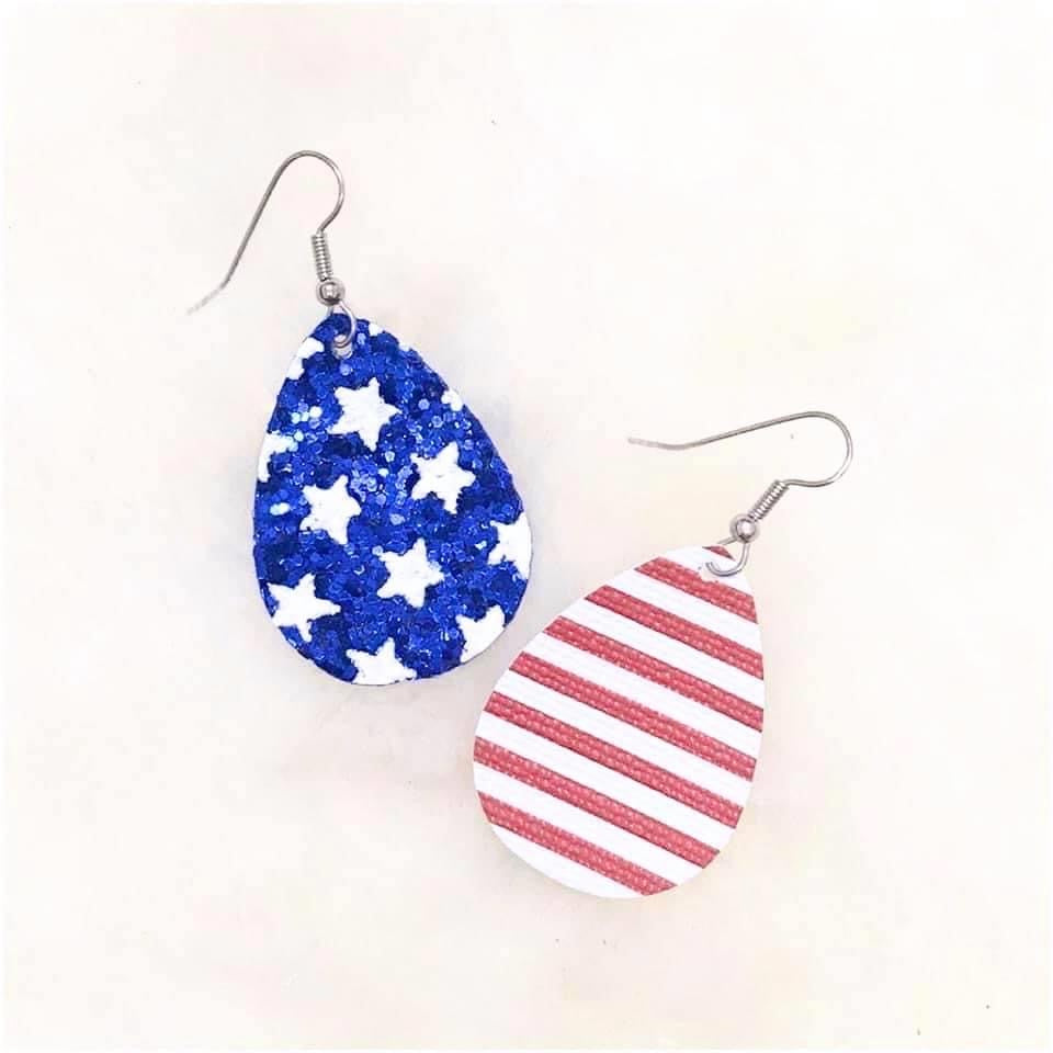 Stars and Stripes Dangles