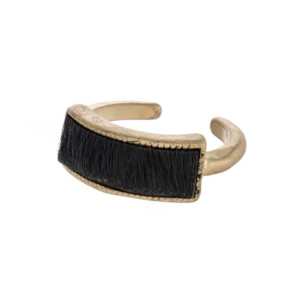 Black Fur Ring