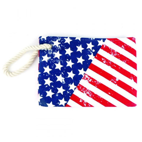 Distressed American Flag Pouch