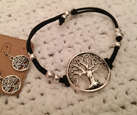 Tree bracelet and earrings