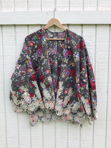 Floral and Lace Kimono