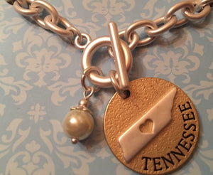 Heart of Tennessee toggle bracelet