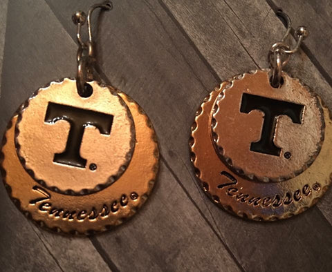 Two tone Tennessee earrings