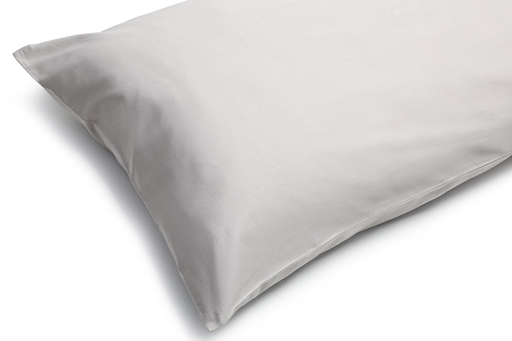 Organic Pillowcase Pewter – 100% Natural Cotton