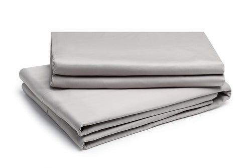 Organic Flat Sheet Pewter – 100% Natural Cotton