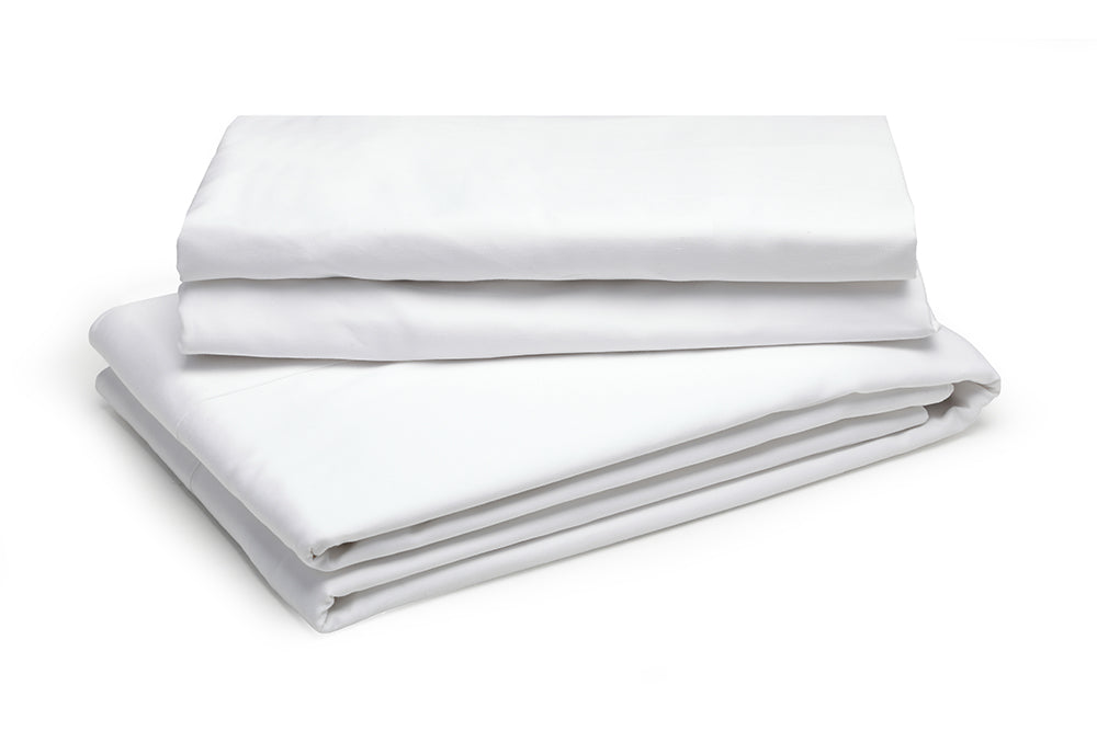 Organic White Fitted Sheet – 100% Natural Cotton