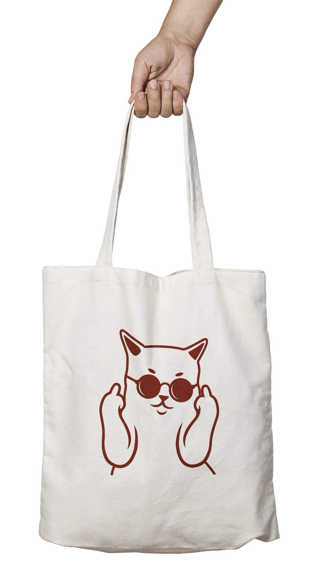 Tote bag chat shopping chat badass fuck bad cat So Custom