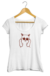 T-shirt chat tee shirt chat badass fuck bad cat So Custom