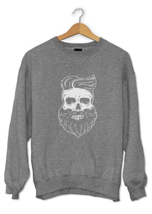 Sweat original barbe squelette Hipster So Custom