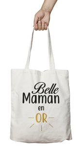 "Tote bag ""Belle Maman en or"""