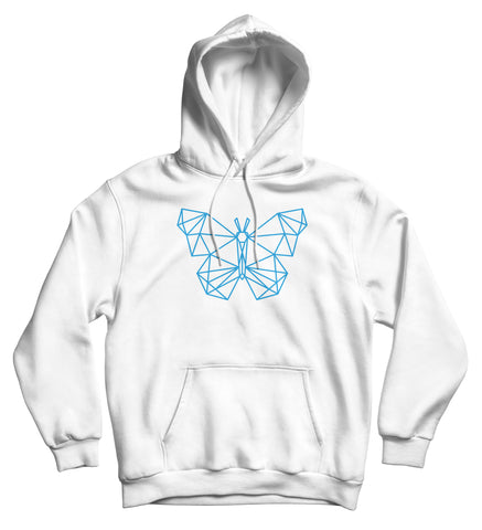 Sweat capuche original papillon low poly So Custom