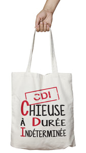 Tote bag marrant et original chieuse CDI femme So Custom