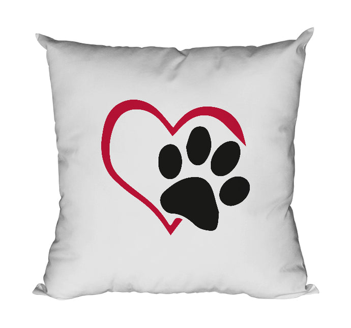 Coussin original chat empreinte patte coeur So Custom