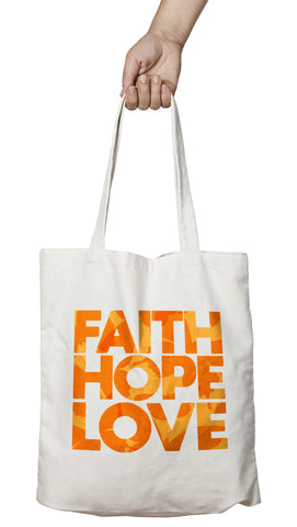 Coussin original stylé faith hope love amour espoir foi So Custom