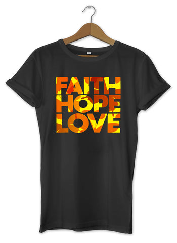 T-shirt original stylé faith hope love amour espoir foi So Custom