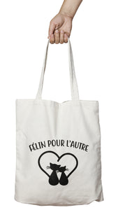 Tote bag cool et original chat félin cat So Custom