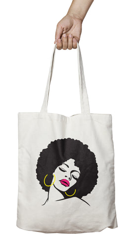 Tote bag Afro original femme africaine So Custom