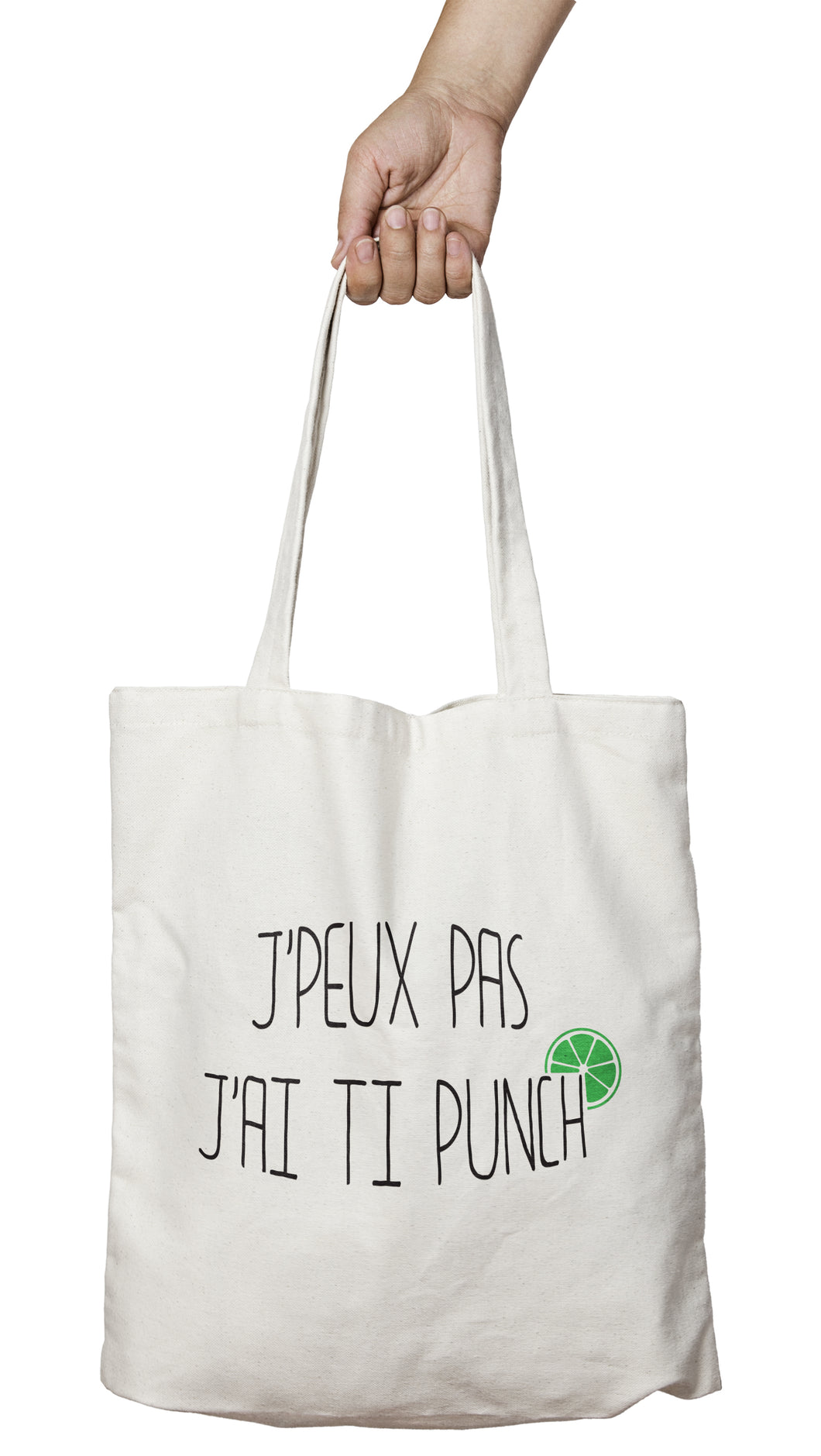 Tote bag original j'peux pas j'ai Ti punch boisson alcool cocktail So Custom
