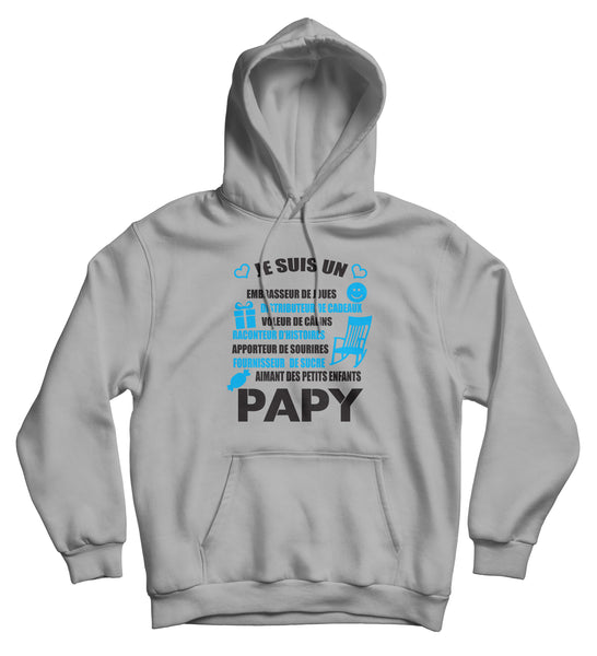 Sweat capuche original papy amour famille So Custom