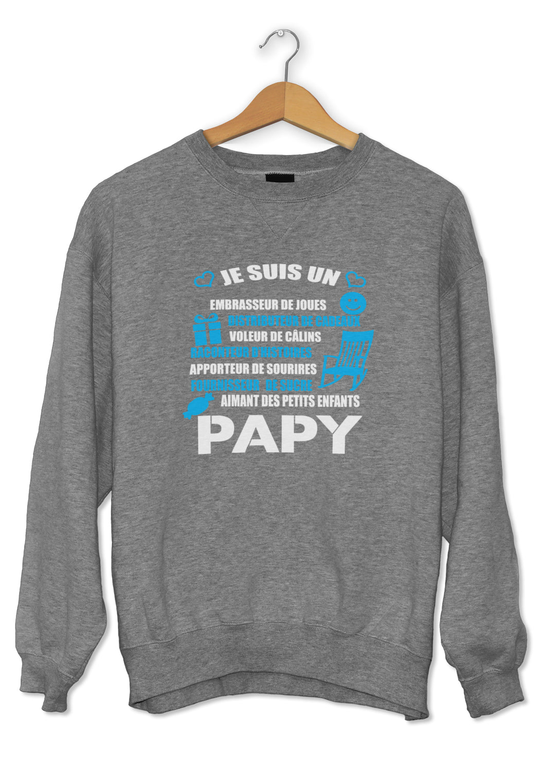 Sweat original papy amour famille So Custom