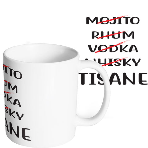 Mug marrant et original mojito rhum vodka whisky tisane thé So Custom