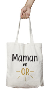 tote bag maman en or mère So Custom